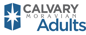 Calvary Moravian Church Adults Logo
